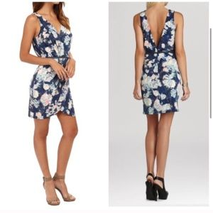 BCBGeneration Blue Floral Tulip Dress Size 2